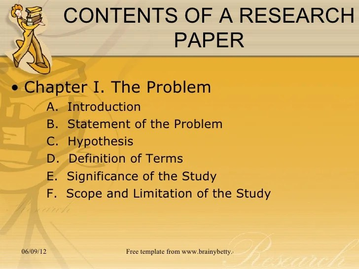 Chapter 3 THE RESEARCH PROBLEM
