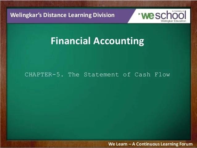 cash flow statement chapter
