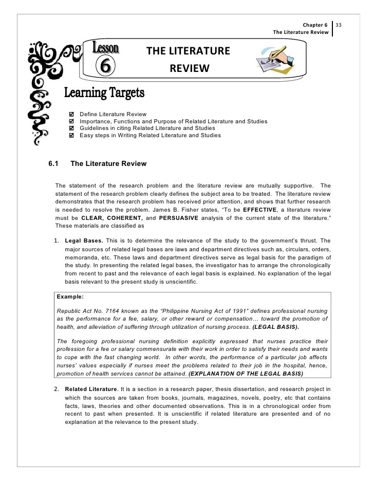 Literature Review Template Microsoft Word