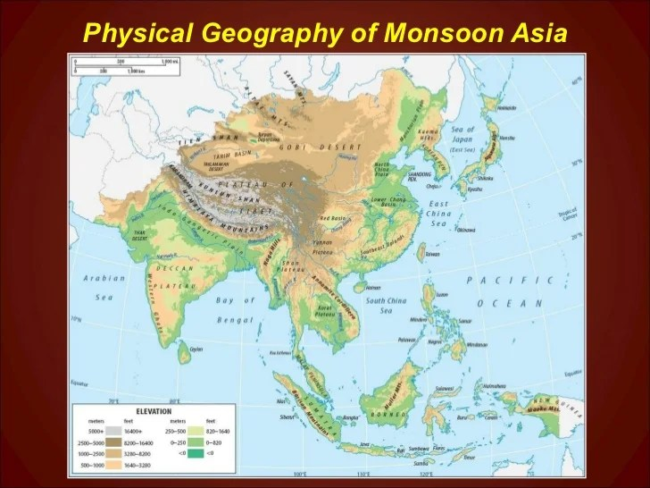Map Monsoons Southeast Asia