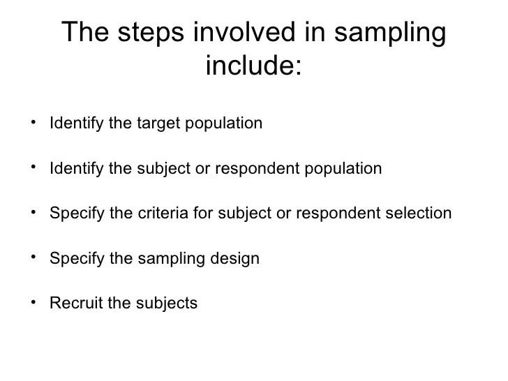 Chapter 8 SAMPLE & SAMPLING TECHNIQUES