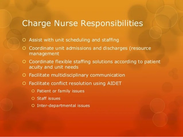 Charge nurses presentation How to be a great leader