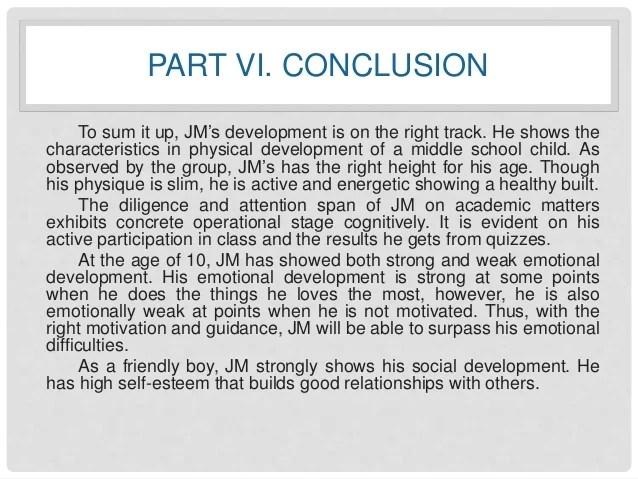 A Case Study About Child Development JM