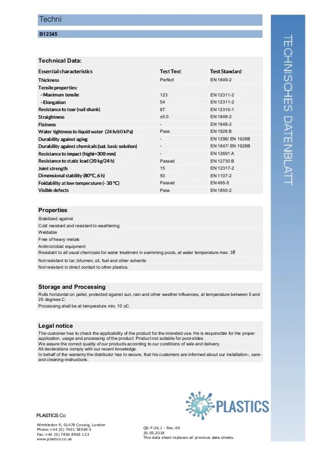 Chemistry Components Datasheet Template