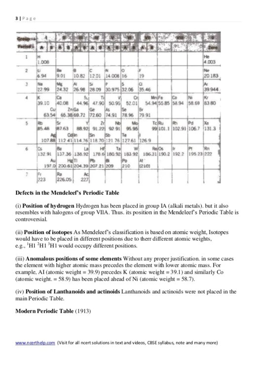 Periodic table notes class 11 periodic diagrams science chemistry notes class 11 chapter 3 classification of elements and per urtaz Choice Image