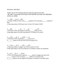 Printables. Mole Problems Worksheet. Mywcct Thousands of ...