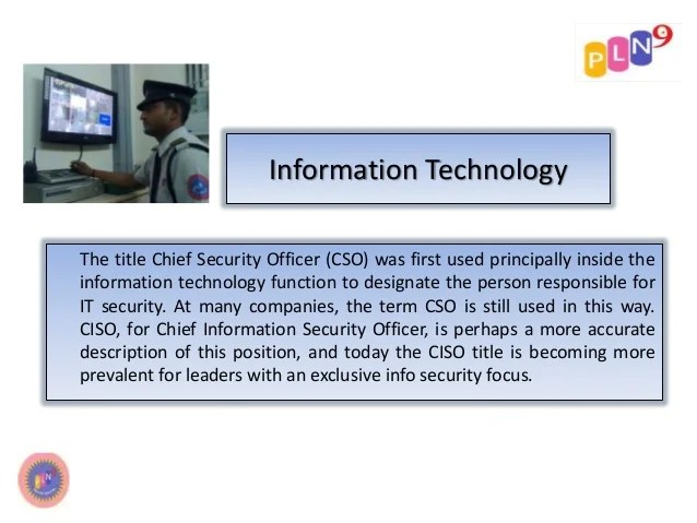 Technology Security Officer Job Description