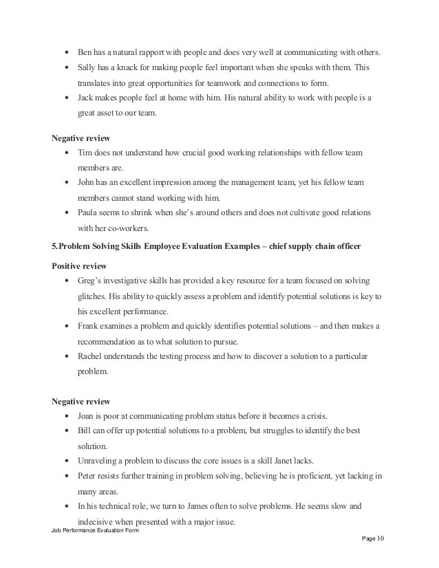 Chief supply chain officer performance appraisal