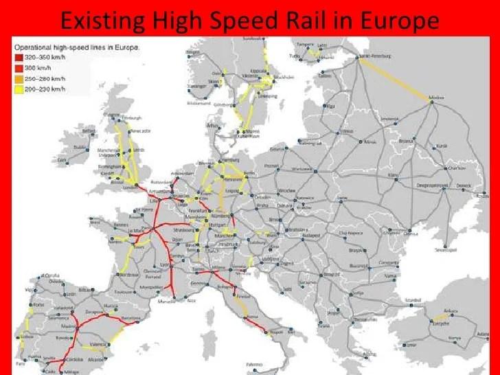 Bullet Train Europe Map