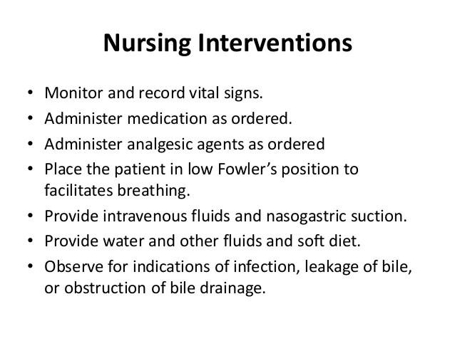 Cholelithiasis Nursing Interventions