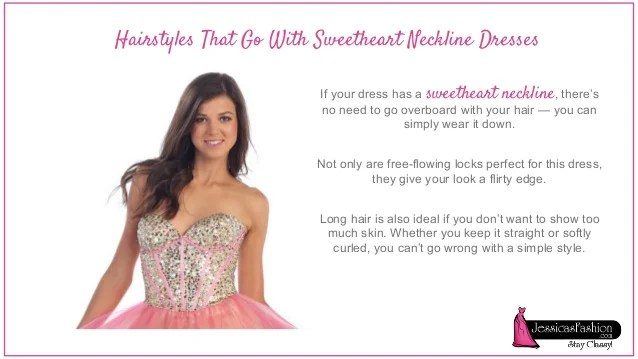 Choosing Hairstyle Based On Your Dress Neckline