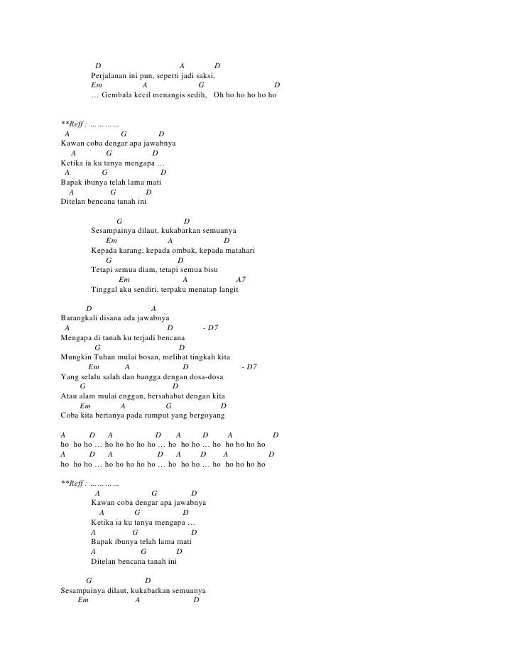 Chord Puisi Alam : chord, puisi, Chord, Ebiet