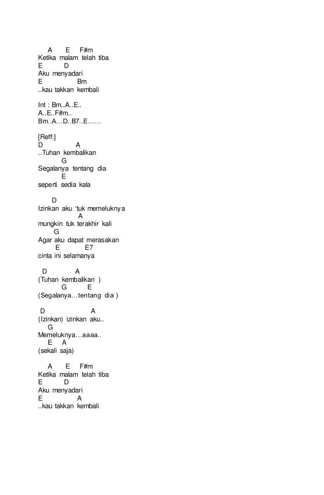 Lirik & kunci gitar Samsons - Di ujung jalan | jagokord