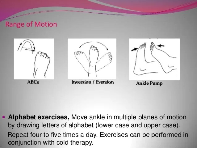 Ankle Physical Therapy Exercises Range Motion