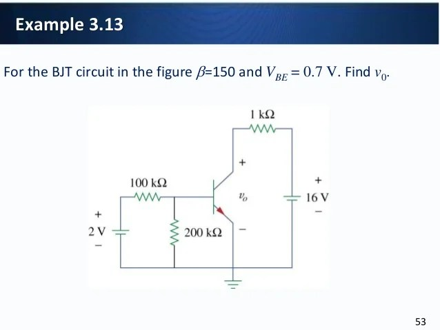 Results From The Dc Analysis Of The Transistor Amplifier