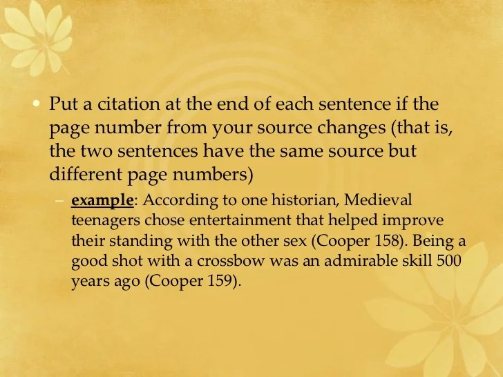 Citations In A Research Paper