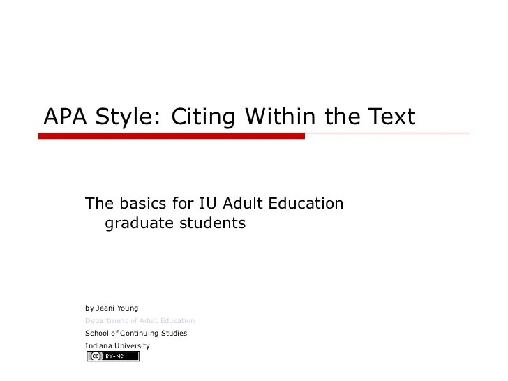 Apa Citation Essay Apa In Text Citations High School Apa Research