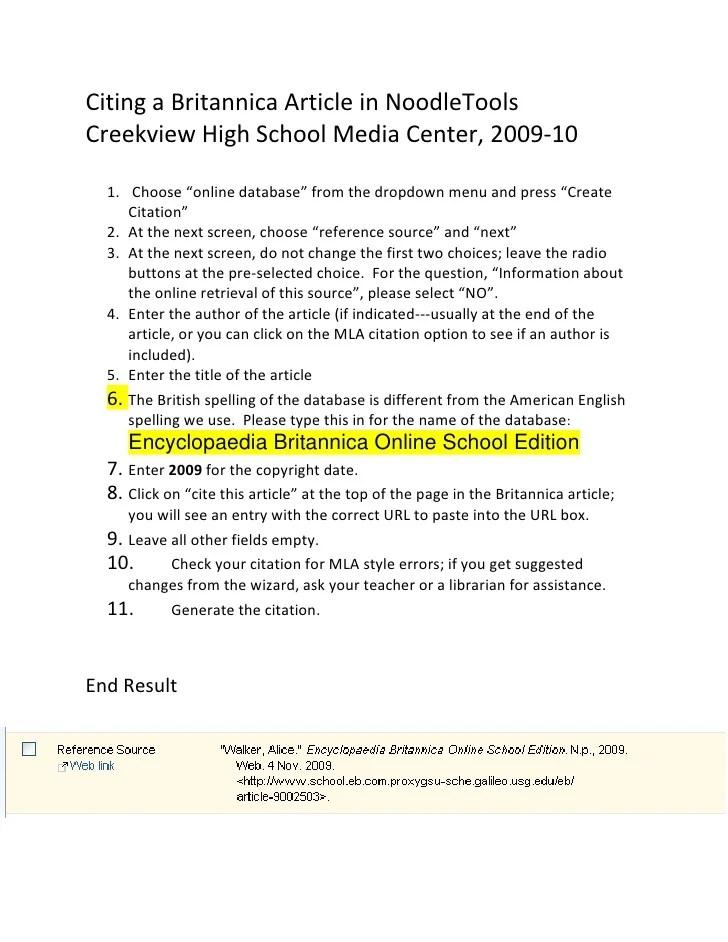 Mla Citation How Cite Website