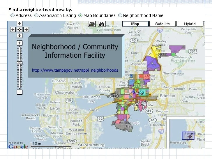 Tampa Neighborhoods Information Facility