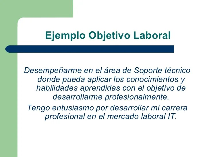 Ejemplo Objetivo Para Curriculum Vitae Sample Resume For Packing Job
