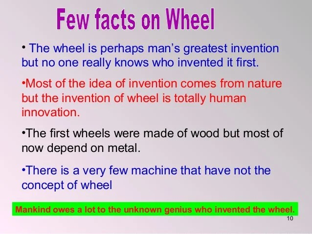 iron rims where invented by the celtics also class english lesson history of wheel rh slideshare