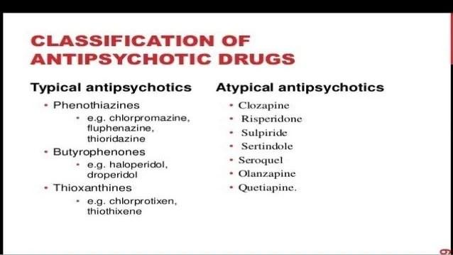 Typical Vs Atypical Antipsychotics - slideshare