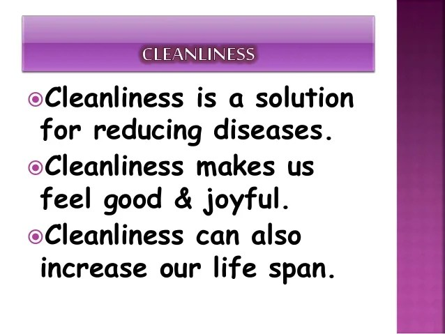 Quotes On Cleanliness Of Surroundings