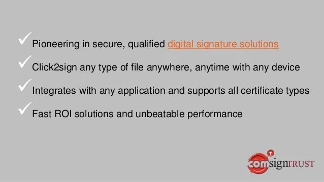 Click2sign Digital Signature Solutions