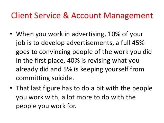 Client service  account management  Types of Clients
