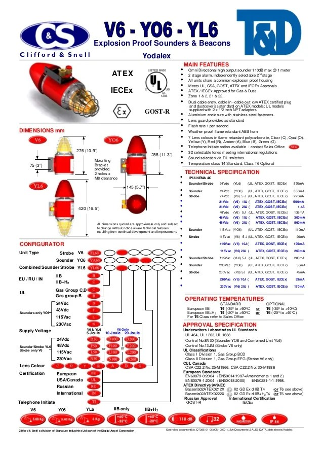 Clifford Alarm Wiring Diagrams Clifford Amp Snell Hazardous Area Explosion Proof Sounders
