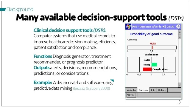 Designing Machine Learning Driven Clinical Decision