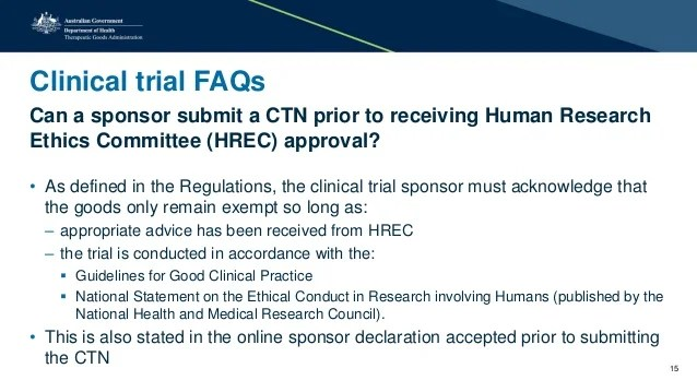 Online Clinical Trial Notification CTN