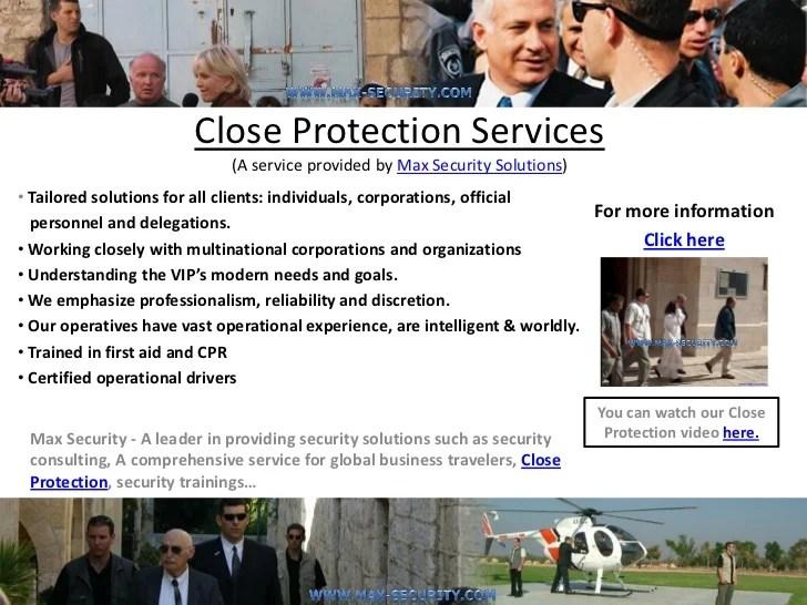 Close Protection Agencies