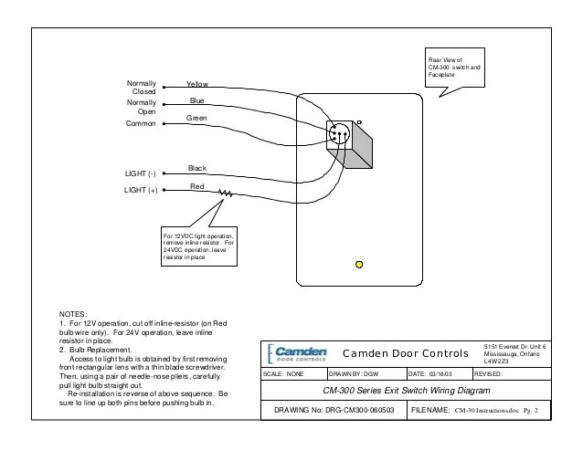 Camden CM300 Instruction Manual