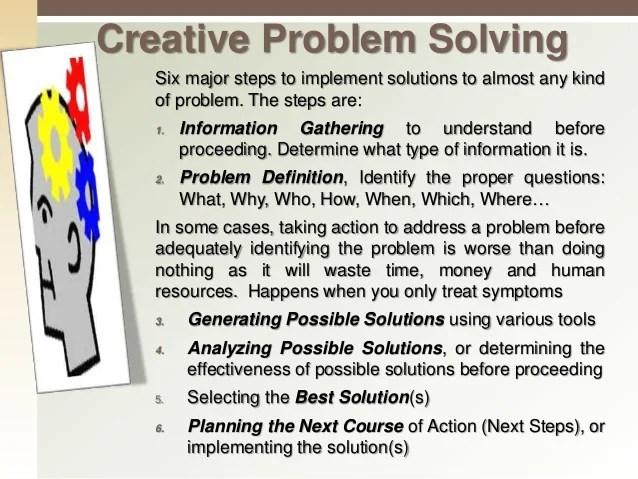 Creative problem solving example - pgbari.x.fc2.com