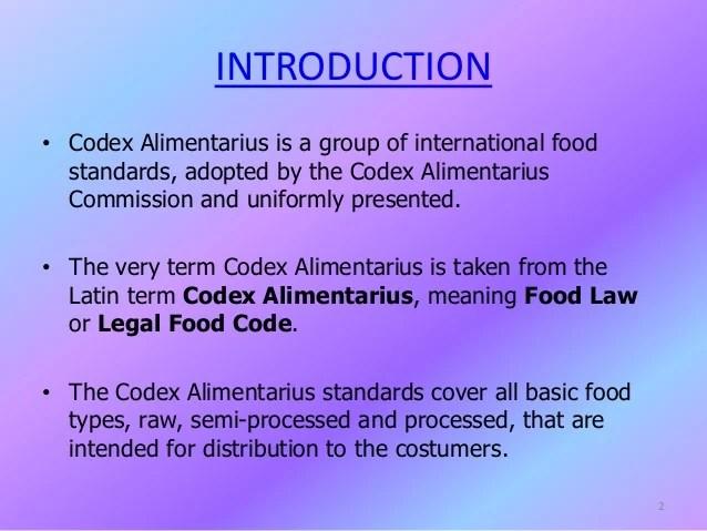 Codex alimentarius  food standard by mahboob khan
