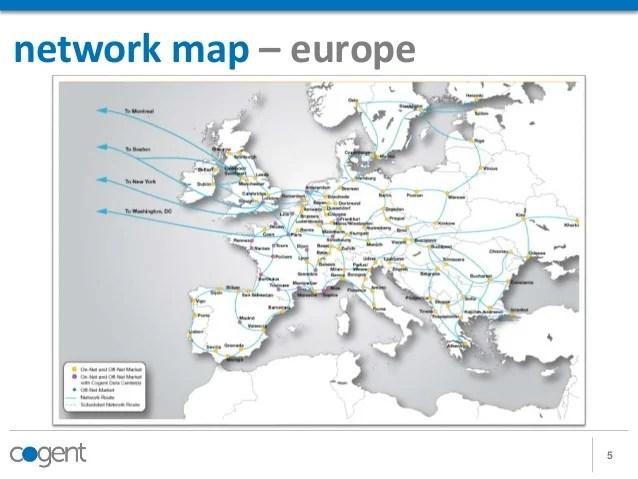 telecom network diagram microsoft 2009 jetta wiring cogent communications presentation 5 map europe