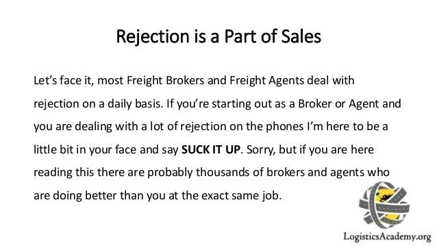 Cold Calling  Dealing with Rejection as a Freight Broker