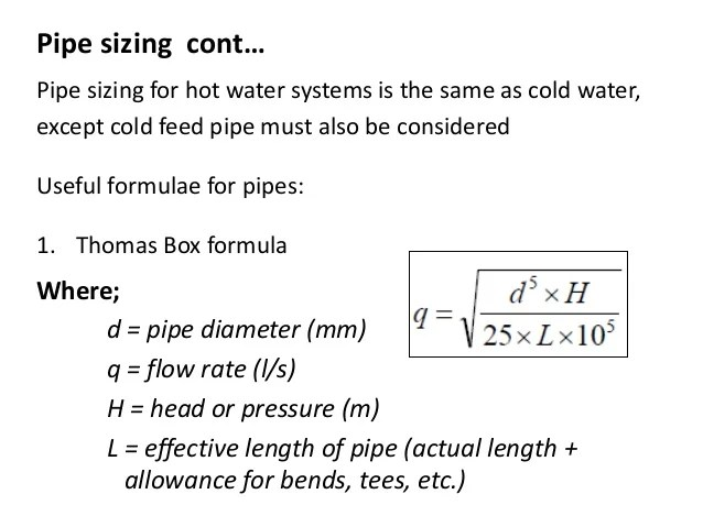 Calculate Pipe Size Based On Flow - Ronniebrownlifesystems