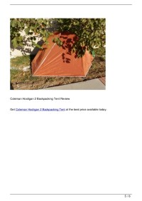 Coleman Hooligan 2 Backpacking Tent Review