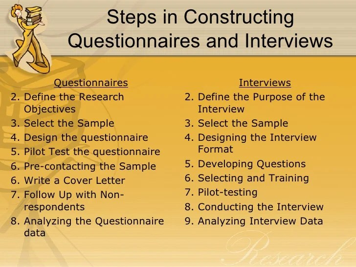 Collecting Research Data With Questionnaires And Interviews