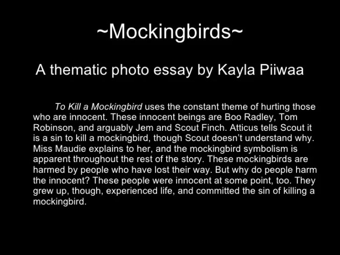 to kill a mockingbird essay outline
