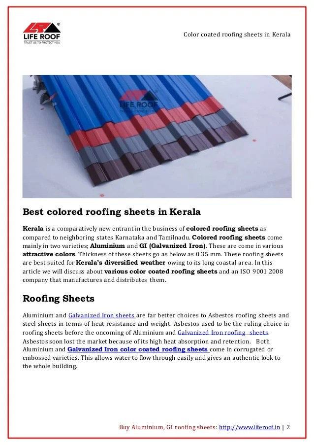 best color roofing sheets