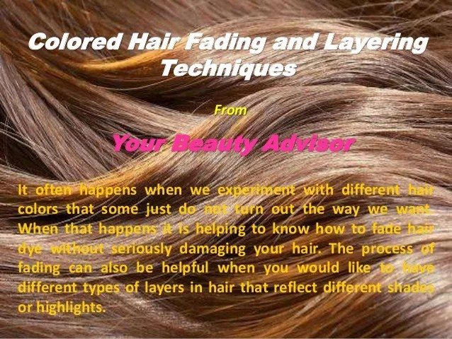 colored hair fading and layering
