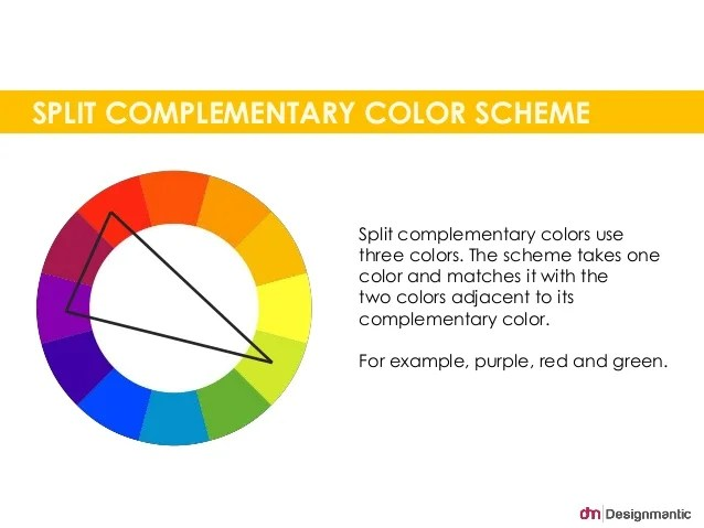 split complementary color scheme examples