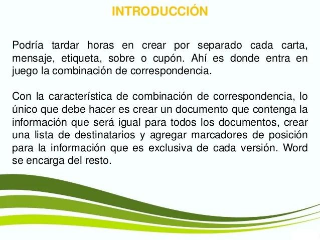 Combinacin De Correspondencia V Office2013