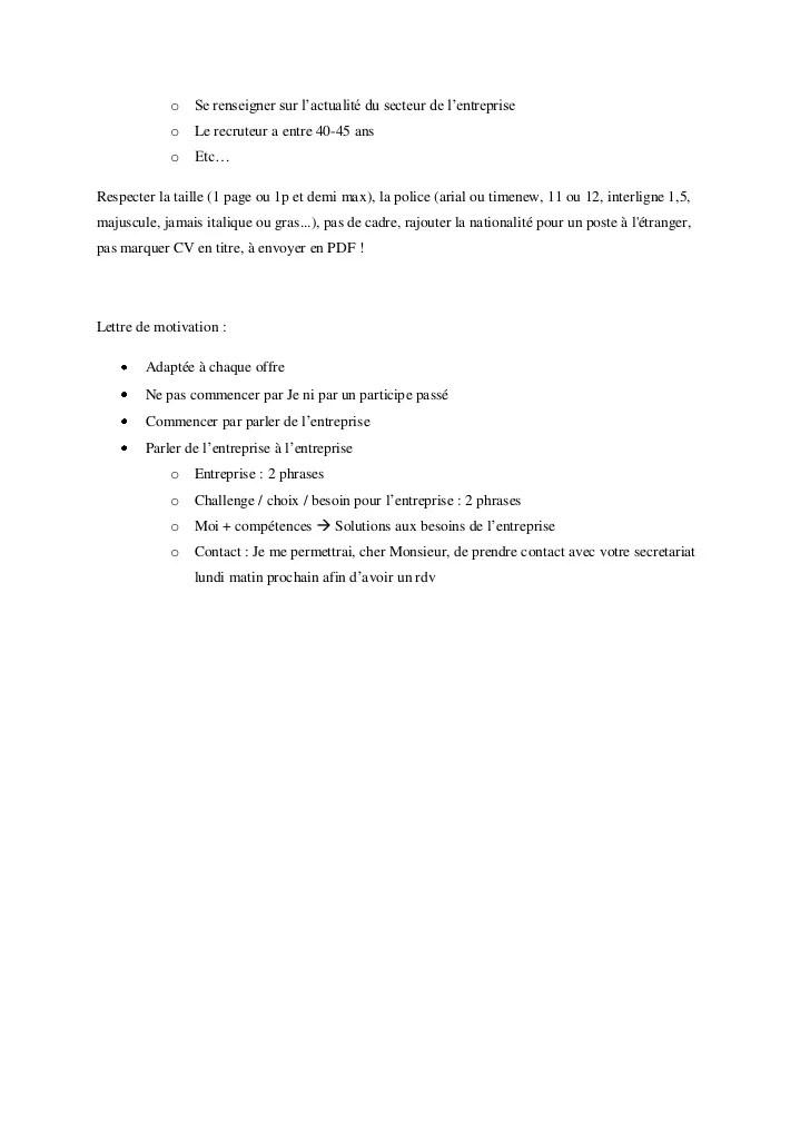 majuscule en anglais cv
