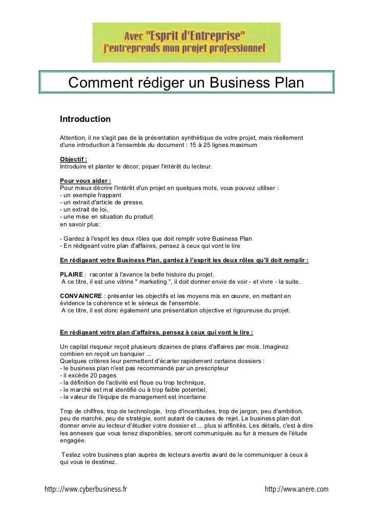 Comment Rediger Unbusinessplan