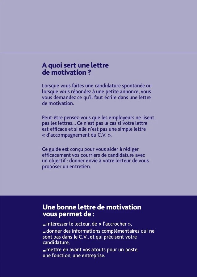 lettre de motivation annonce