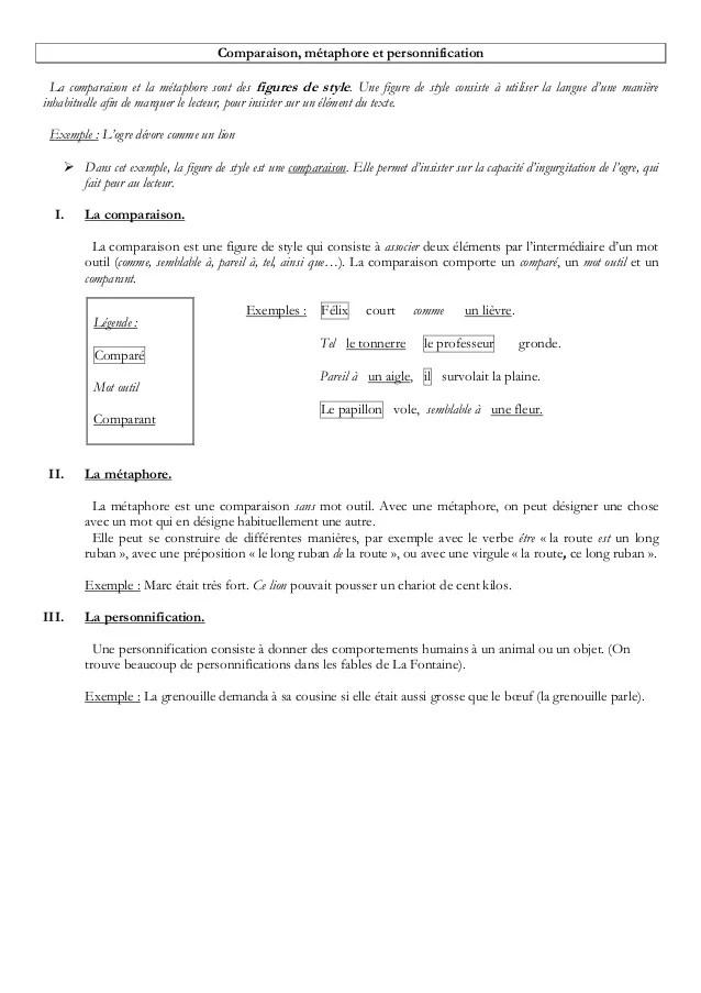 Exemple De Personnification D'un Objet : exemple, personnification, objet, Comparaison,, Métaphore, Personnification